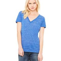 BELLA + CANVAS- B6035 Ladies' Jersey Short-Sleeve Deep V-Neck T-Shirt