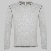 ATC EUROSPUN RING SPUN CONTRAST STITCH LONG SLEEVE TEE