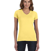 BELLA + CANVAS-1005 Ladies' Stretch Rib Short-Sleeve V-Neck T-Shirt
