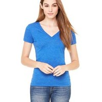 BELLA + CANVAS- 8435 Ladies' Triblend Short-Sleeve Deep V-Neck T-Shirt