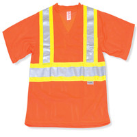Orange Mesh 100% Polyester T-Shirt