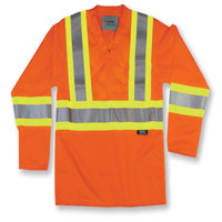 Orange High Visibility Polyester Mesh Safety Shirt