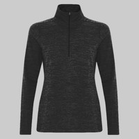 ATC DYNAMIC HEATHER FLEECE 1/2 ZIP LADIES' SWEATSHIRT